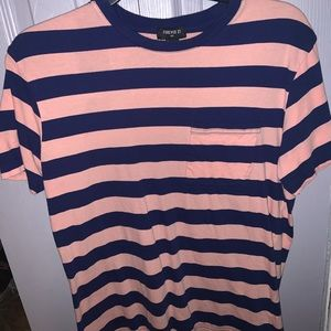 Forever 21 Men blue and pink striped shirt!